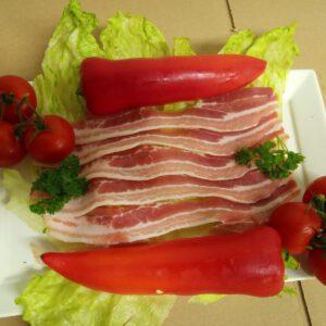 Bacon geschnitten